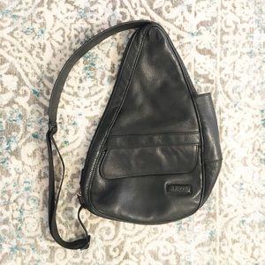 LL Bean Ameri bag healthy bac leather backpack EUC